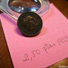 Monedas Franco: 1953 (54) 2.50 PESETAS. Lote 198180366