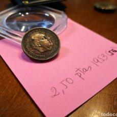Monedas Franco: 1953 (56) 2.50 PESETAS. Lote 198180957
