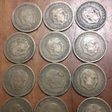 Monedas Franco: MONEDA 1 PESETA DE 1947 LOTE DE 12 UNIDADES. Lote 198194031