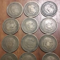 Monedas Franco: MONEDA DE 1 PESETA DE 1947 LOTE DE 12 UNIDADES. Lote 198194212