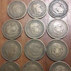 Monedas Franco: 1 PESETA FRANCO 1947 LOTE DE 12 MONEDAS. Lote 198194463