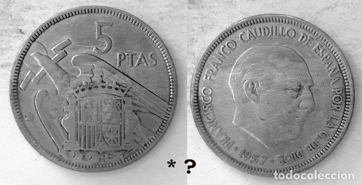 ESPAÑA 5 PESETAS, 1957 *? - KM# 786 (Numismática - España Modernas y Contemporáneas - Estado Español)