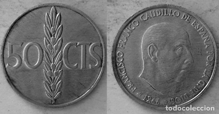 ESPAÑA 50 CÉNTIMOS, 1966 - *71 - KM# 795 (Numismática - España Modernas y Contemporáneas - Estado Español)