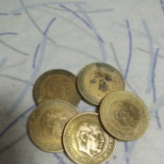 Monedas Franco: 5 MONEDAS DE 2 PESETAS Y MEDIA DE 1953 FRANCISCO FRANCO. Lote 198543468