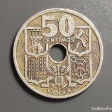 Monedas Franco: VARIANTE RARA: 50 CÉNTIMOS 1949 *(19-51) FLECHAS HACIA ABAJO. Lote 199315732