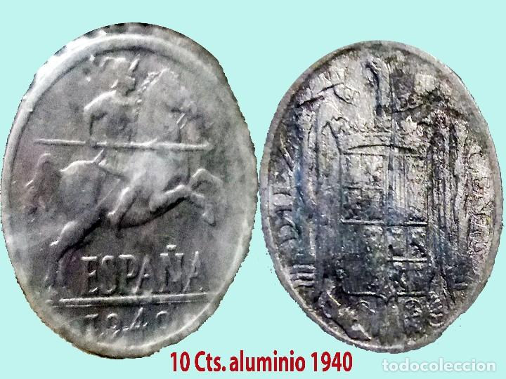 ESTADO ESPAÑOL (FRANCO) 10 CENTIMOS 1940 ALUMINIO.EXCELENTE BUEN ESTADO.EBC-.CATº.30 € (Numismática - España Modernas y Contemporáneas - Estado Español)