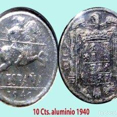 Monedas Franco: ESTADO ESPAÑOL (FRANCO) 10 CENTIMOS 1940 ALUMINIO.EXCELENTE BUEN ESTADO.EBC.CATº.35 €. Lote 199326232