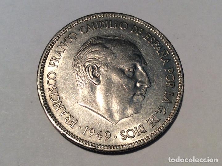 Monedas Franco: Moneda 5 pesetas 1949*50. Ref220 - Foto 2 - 199333212