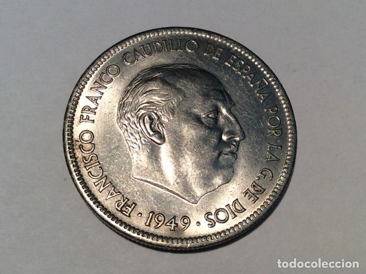 Monedas Franco: Moneda cinco pesetas 1949 *50 sin circular Ref219 - Foto 2 - 74248937
