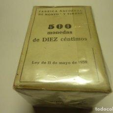 Monete Franco: CAJA DE 500 PIEZAS FNMT DE 10 CTMOS 1959 S/C. Lote 199374546