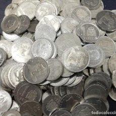 Monedas Franco: LOTE DE 195 MONEDAS. ALUMINIO. 50 CÉNTIMOS 1966, 1 PESETA 1987 Y 2 PESETAS 1982/84. Lote 202947646