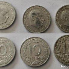 Monedas Franco: 3 MONEDAS DE 10 CÉNTIMOS DE FRANCO 1959. Lote 203103522