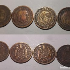 Monedas Franco: 4 MONEDAS DE 1 PESETA DE 1953, ESTRELLA 62. Lote 203103566
