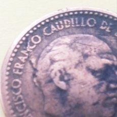Monedas Franco: *ERROR* 1 PESETA 1947*52, CUÑO ROTO ANVERSO, COSPEL GRUESO REVERSO. Lote 203290303