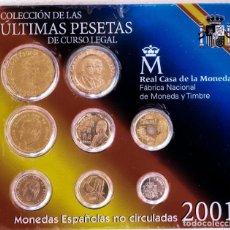 Monedas Franco: MONEDAS CURSO LEGAL ESPAÑA 2001. Lote 203301968