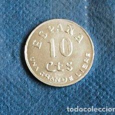 Monete Franco: MONEDA 10 CTS DE ZINC, UNA GRANDE Y LIBRE III AÑO TRIUNFAL. Lote 203617697