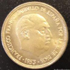 Monedas Franco: MONEDA DE 2,50 PESETAS DE 1953 ESTRELLA 54 ESPAÑA FRANCISCO FRANCO. Lote 204254117