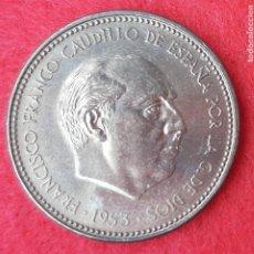 Monedas Franco: MONEDA 2,50 PESETAS 1953 ESTRELLAS 19 70 SIN CIRCULAR ORIGINAL B34. Lote 204426995