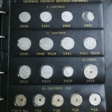 Monedas Franco: ALBUM DE MONEDAS ESTADO ESPAÑOL 1936-1975 FRANCO. Lote 204480840