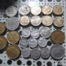 Monedas Franco: LOTE 25 MONEDAS DE FRANCO Y EX REY JUAN CARLOS (NO ESTÁN REPE SON DISTINTAS FECHAS). Lote 204761786