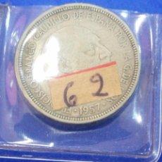 Monedas Franco: MONEDA 5 PESETAS 1957 *62 ESTADO ESPAÑOL. Lote 205122997
