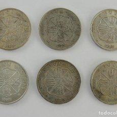 Monedas Franco: COLECCION LOTE DE 6 MONEDAS DE PLATA DE 100 PESETAS DE FRANCO. Lote 205255815