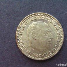 Monnaies Franco: 1 PESETA 1963 ESTRELLA 67 - SIN CIRCULAR LIMPIADA. Lote 205380698