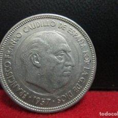 Monedas Franco: 5 PESETAS 1957 ESTRELLA 73 VARIANTE VEAN CARA DE LA MONEDA REDONDEL. Lote 205567430
