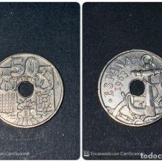 Monedas Franco: MONEDA. ESPAÑA. 50 CENTIMOS. 1963. ESCASA. ESTRELLA *19-63*.S/C. VER FOTOS. Lote 205662221