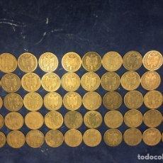 Monedas Franco: 50 MONEDAS DE 1 PESETA FRANCO 1944 MADRID COBRE. Lote 205772531