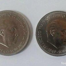 Monedas Franco: 5 PESETAS 1949 *49 *50 ESTADO ESPAÑOL,ESTRELLAS PERFECTAS ,BRILLO ORIGINAL. Lote 206300603