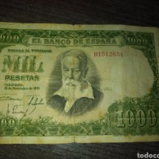 Monedas Franco: BILLETE DE 1000 PESETAS AÑO 1951 JOAQUIN SOROLLA.. Lote 206336732