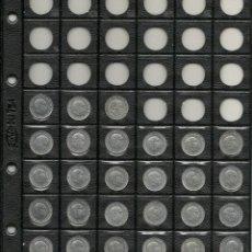 Monedas Franco: HOJA PARDO 17 M.M DE DIAMETRO CON 27 MONEDAS DE 10 CTS, FRANCO. Lote 206779415