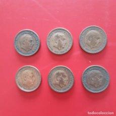 Monedas Franco: ESTADO ESPAÑOL.LOTE DE 6 PIEZAS DE 2,50 PESETAS.. Lote 206821172