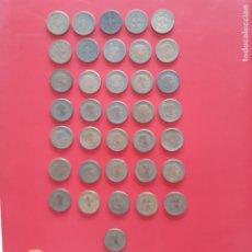 Monedas Franco: ESTADO ESPAÑOL. LOTE DE 36 PIEZAS DE 1 PESETA.. Lote 206823465