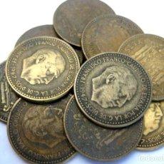 Monedas Franco: ESPAÑA, 10 MONEDAS DE 1 PESETA 1947 (INCLUYE *48,49,52,53, Y 54)./ USADAS.. Lote 207247898