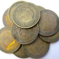 Monedas Franco: ESPAÑA, 10 MONEDAS DE 1 PESETA 1953 ./ USADAS.. Lote 207248032