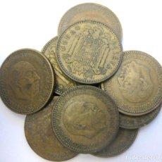 Monedas Franco: ESPAÑA, 10 MONEDAS DE 1 PESETA 1963 (INCLUYE *63, 64, 65 Y 66)./ USADAS.. Lote 207248163