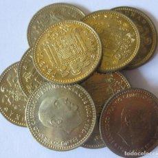 Monedas Franco: ESPAÑA, 10 MONEDAS DE 1 PESETA 1966 *74./ SIN CIRCULAR.. Lote 207248387
