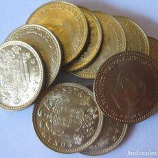 Monedas Franco: ESPAÑA, 10 MONEDAS DE 1 PESETA 1966 *75./ SIN CIRCULAR.. Lote 207248416