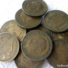 Monedas Franco: ESPAÑA, 10 MONEDAS DE 2,50 PESETAS 1953./ USADAS.. Lote 207248552