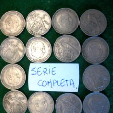 Monedas Franco: ESPAÑA, LAS 18 MONEDAS DE 5 PESETAS 1957 (SERIE COMPLETA)./ USADAS.. Lote 207248708