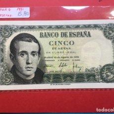Monedas Franco: X-2152 )ESPAÑA,,5 PESETAS 1951 NUEVO SIN CIRCULAR. Lote 207288673