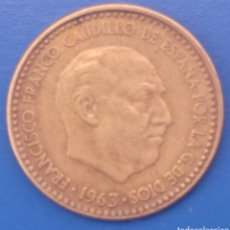 Monedas Franco: MONEDA DE UNA PESETA 1963. Lote 207295158