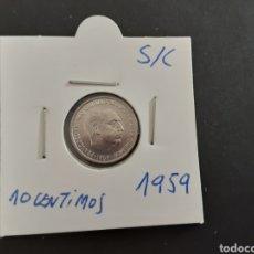 Monedas Franco: MONEDA 10 CENTIMOS 1959 ESTADO ESPAÑOL S/C SACADA DE LA BOLSA ESPAÑA. Lote 207297960