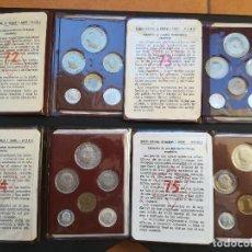 Monedas Franco: COLECCION COMPLETA DE LAS 4 CARTERAS,PRUEBAS NUMISMATICAS DEL ESTADO ESPAÑOL.DE LOS AÑOS 72-73-74-75. Lote 207324945
