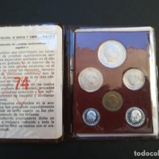 Monedas Franco: CARTERA DE MONEDAS DEL ESTADO ESPAÑOL DEL AÑO 1974.PRUEBAS NUMISMATICAS.. Lote 207338053