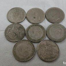 Monedas Franco: 8 MONEDAS DE 50 PESETAS. Lote 207342468