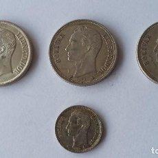 Monedas Franco: VENEZUELA -MONEDA- LOTE DE 4 PIEZAS A ESAMINAR DE EBC A SC PLATA ( P257 ). Lote 208879300