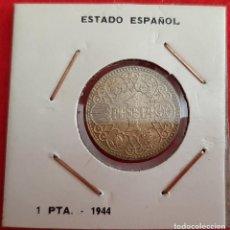 Monedas Franco: MONEDA 1 PESETA 1944 FRANCO EBC ORIGINAL EEJ. Lote 209687508